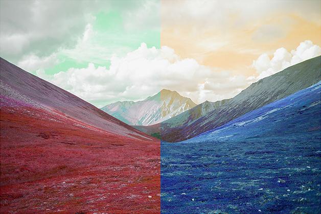 """Mountain range,  2016, Édition de 5, épreuve à développement chromogène 28 x 42""""."""