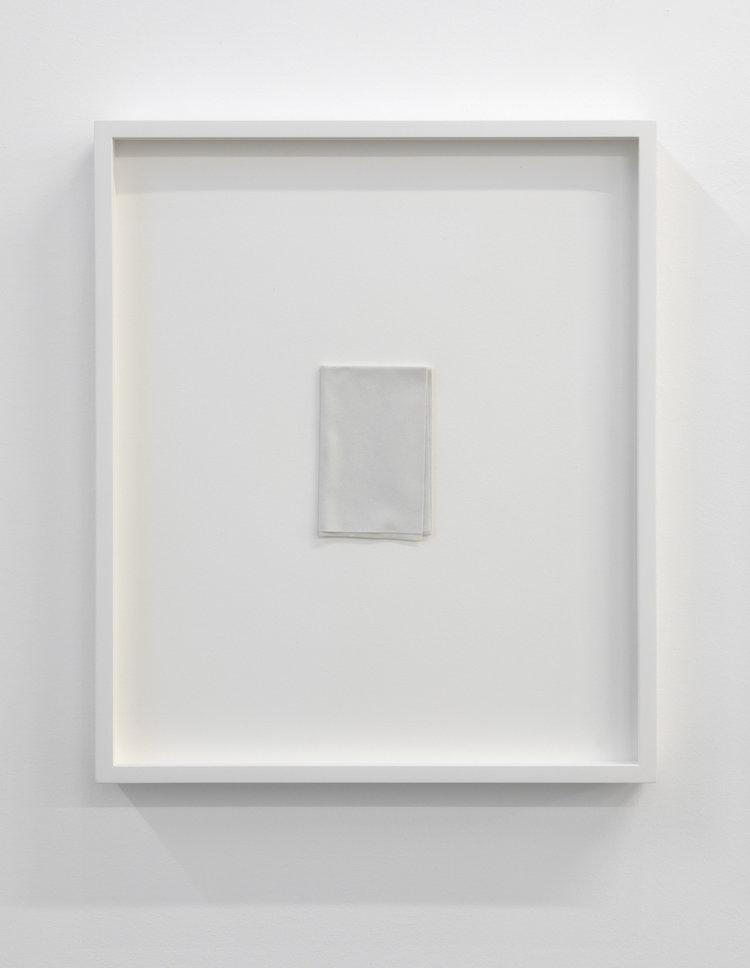 """Paper series 02, 2016,  einture acrylique pliée, 16 x 13 1/2., 16 x 13 1/2""""."""