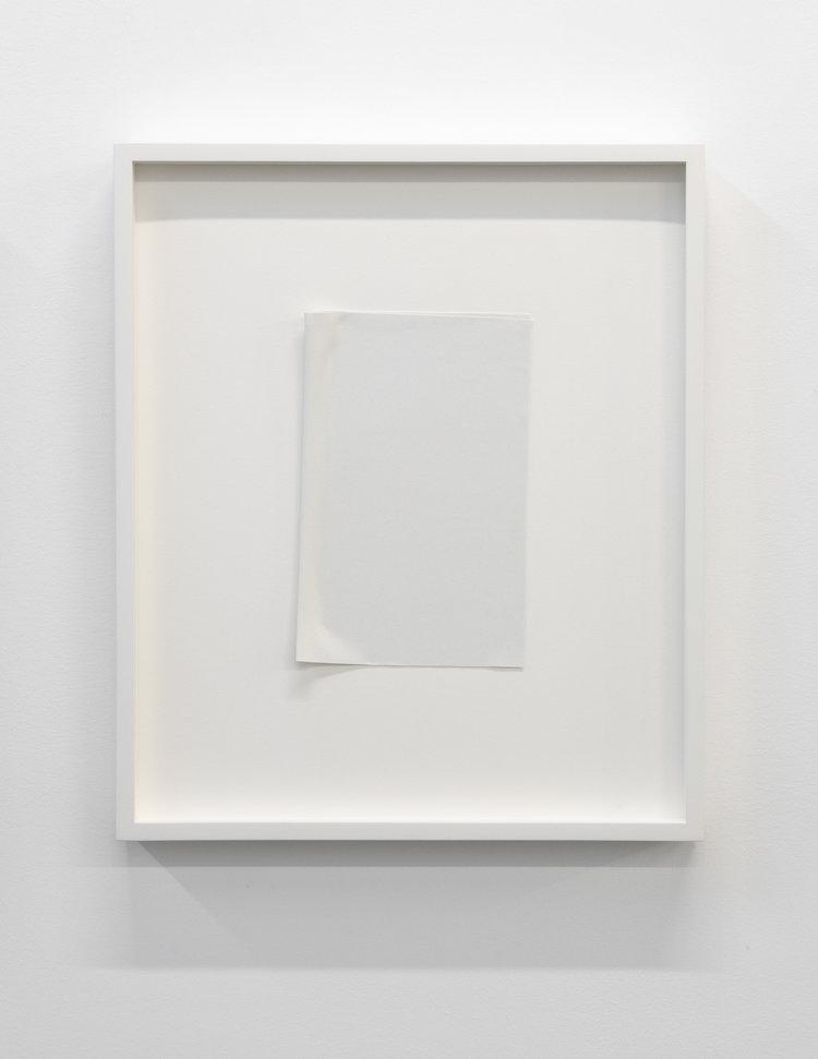 """Paper series 03, 2016,  einture acrylique pliée, 16"""" x 13 1/2, 16 x 13 1/2""""."""