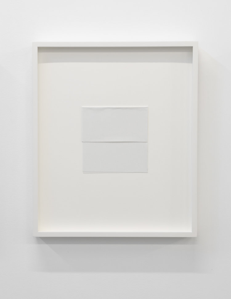 """Paper series 04, 2016,  einture acrylique pliée, 16 x 13 1/2""""."""