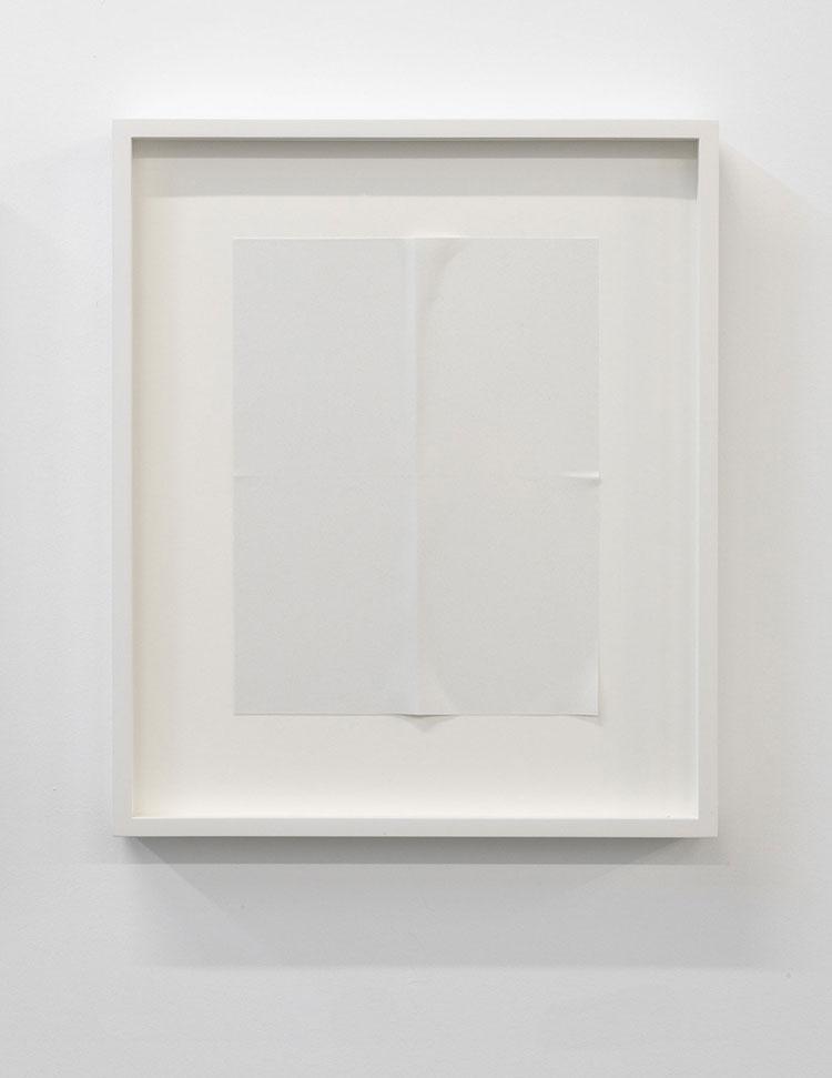 """Paper series 05, 2016,  einture acrylique pliée, 16 x 13 1/2""""."""