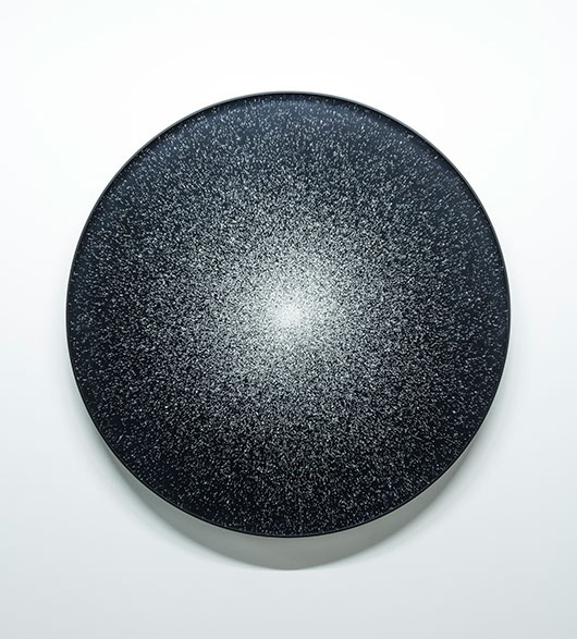 """Hublot 54 vir , 2017, Impression au jet d'encre, acrylique, acier, 36""""."""