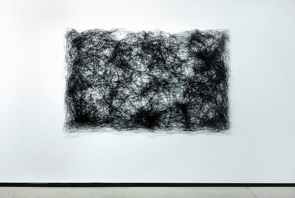 """Astérisme II,  2017, acier, acrylique, 52 x 82""""."""