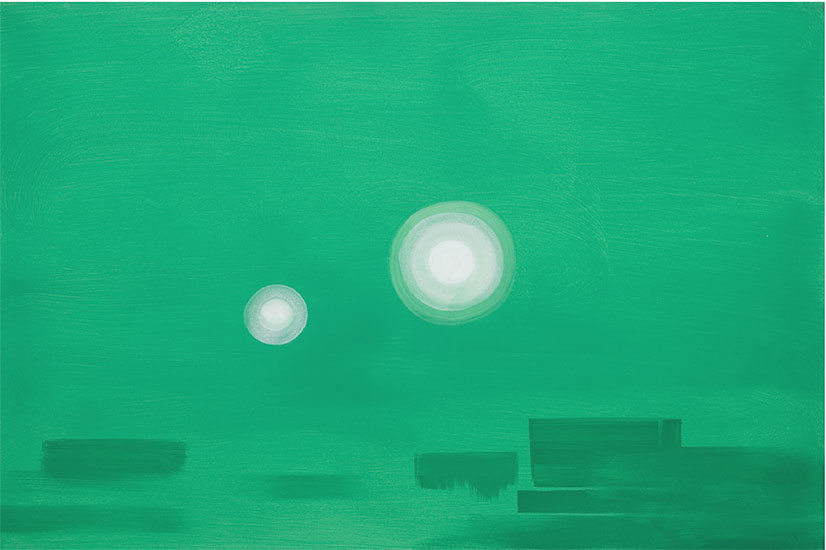 "Untitled (Green zone series), 2002-2007 , Acrylique sur toile, 24 x 36""."