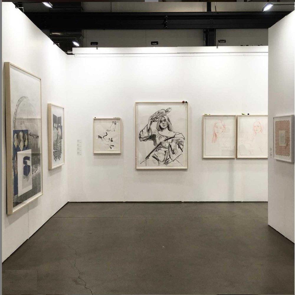 Vue d'installation,, La Foire PAPIER 2018, Louis Bouvier, Chloe Wise,  Myriam Dion