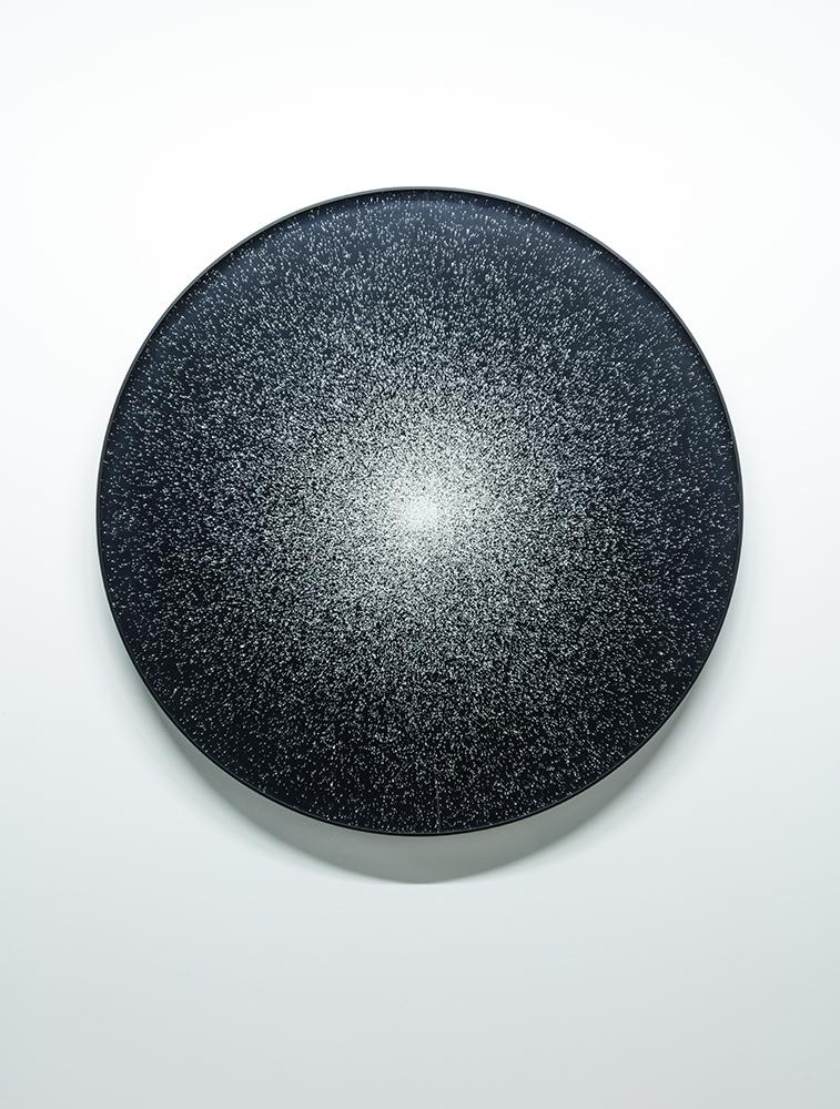 """Nicolas Baier   Hublot 95 Leo , 2019, Impression au jet d'encre, acrylique, acier, 24"""""""