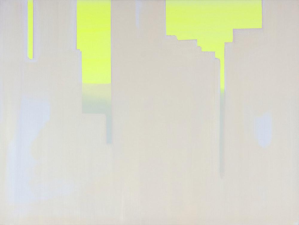 """Wanda Koop   In Absentia (Luminous Lemon - Pale Pink - Lavender) , 2016, Acrylique sur toile tendue sur faux-cadre, 30"""" x 40"""""""