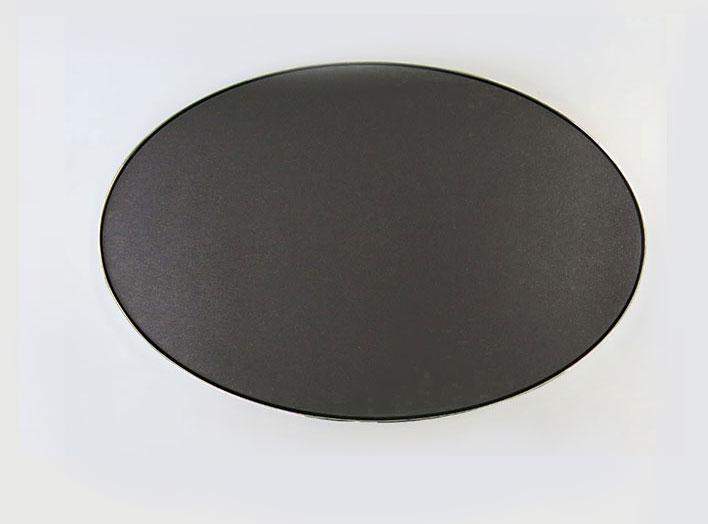 """Nicolas Baier ,  Météorite 8 , 2013, Poudre de météorite et médium acrylique sur toile, aluminium, 21 1/2"""" x 32 1/2 """"."""