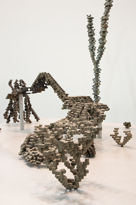 """Patrick Coutu ,  Récif, Extrait 5a , 2018 (détail), Bronze and aluminium, 17 3/8"""" x 38"""" x 36""""."""