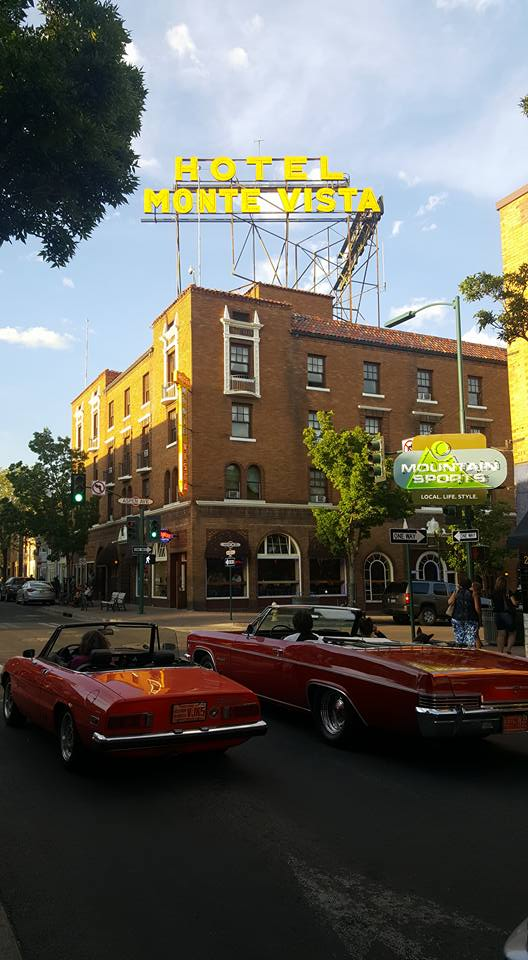 The Hotel Monte Vista, where they serve you some of Flagstaff's best dry martinis with a smile, witty conversation, and possibly a hint of a haunting…. -