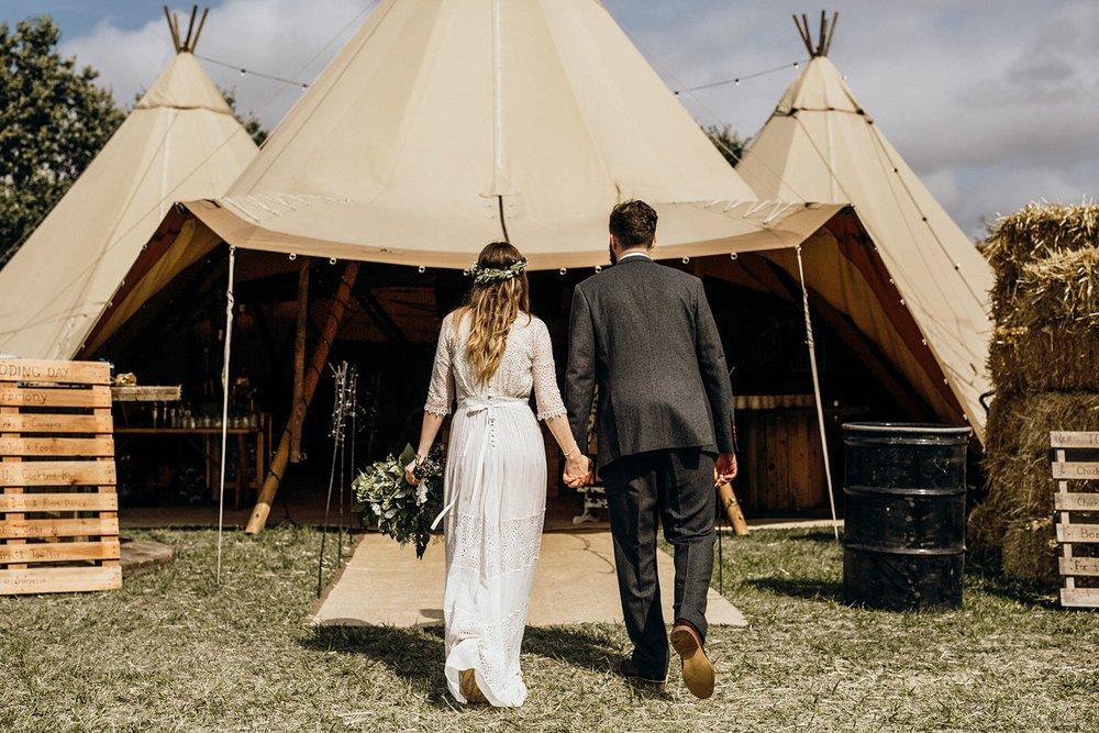 woodland tipi wedding