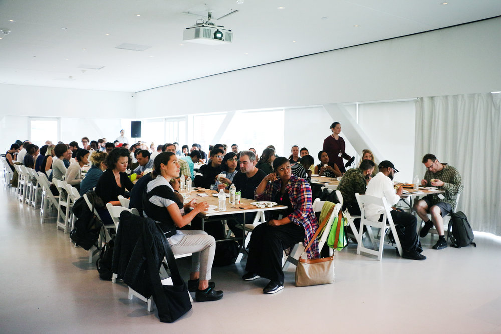 NEW INC workshop participants in the New Museum Sky Room