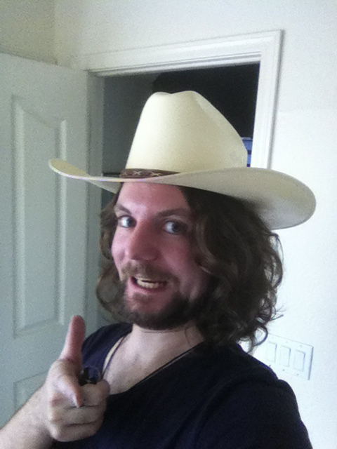 A reason why I should never EVER wear a cowboy hat.