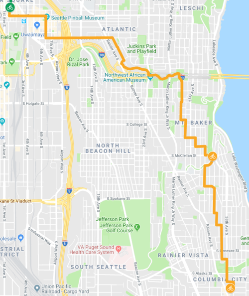 Columbia City via Mt Baker — Seattle Bike Train