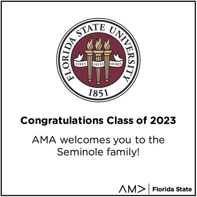 Welcome, class of 2023! We hope to see some of you at AMA in the fall. #NowANole #FSU23
