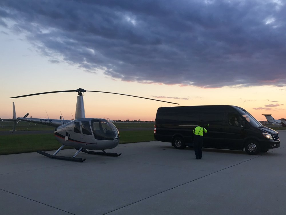 Sunset Helicopter Ride over the City