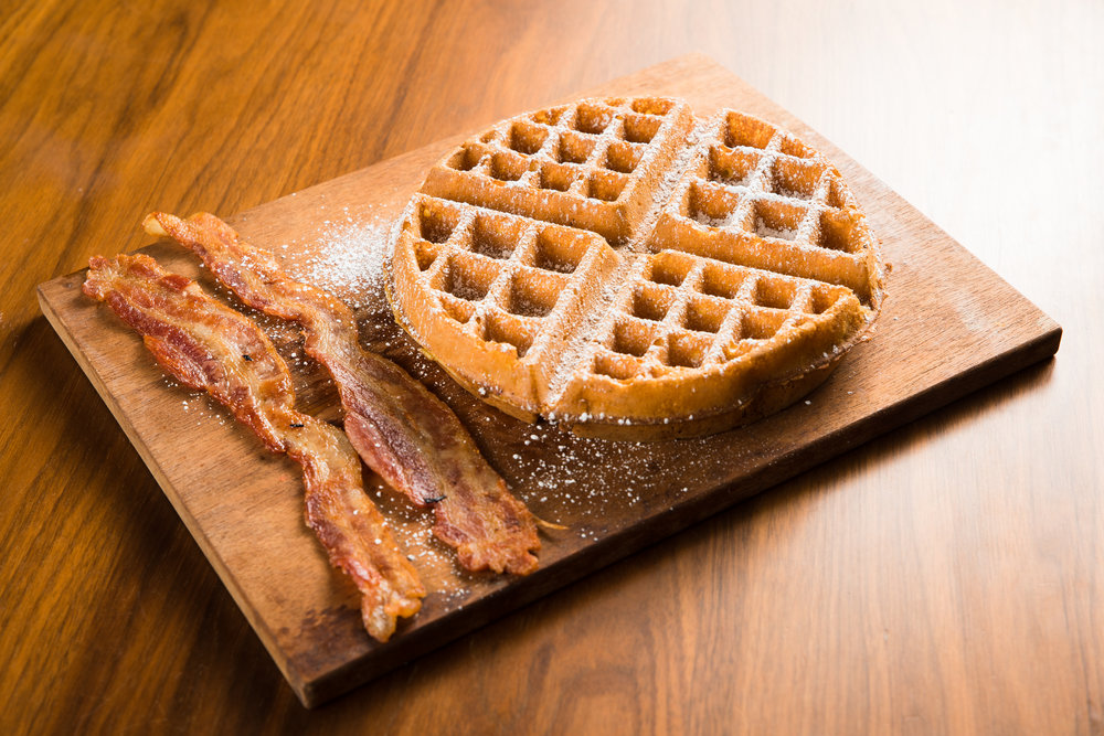 Bacon and Belgian Waffle