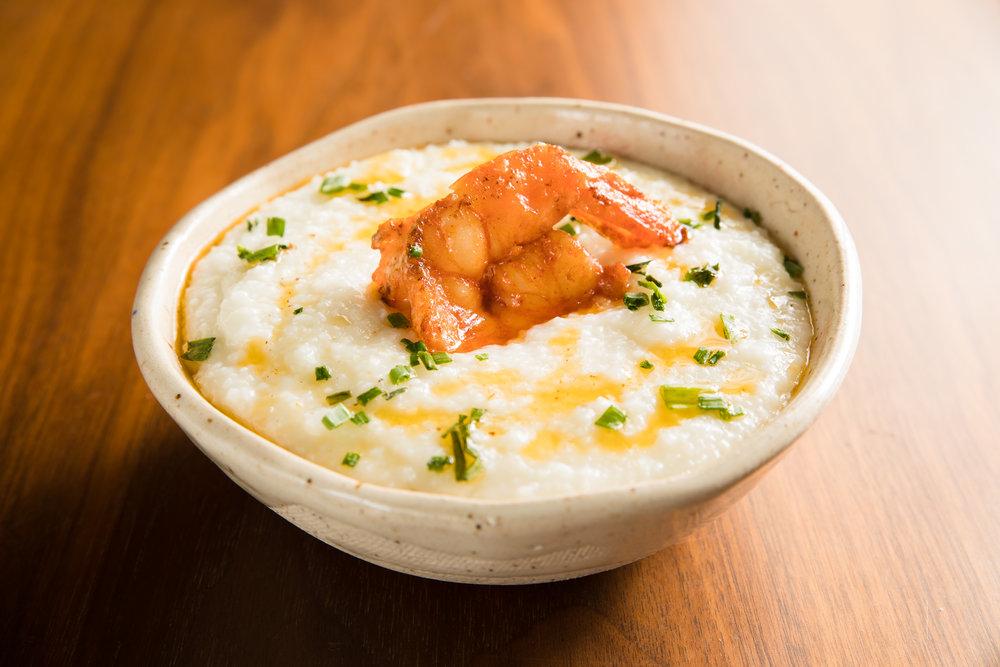 Parmesan Grits and Shrimp