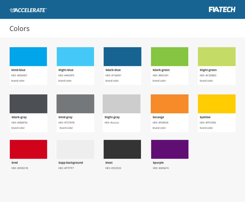 FIA Tech Colors