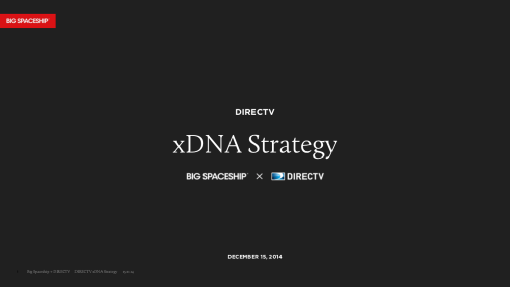 DIRECTV Product Strategy - The Future of Television 2020