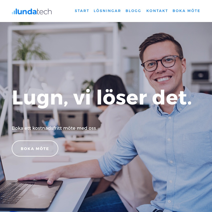 Lundatech - Logotype / Visual Identity / Website