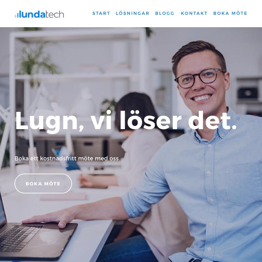 Lundatech - Logotype / Visual Identity / Website / FACEBOOK ADS