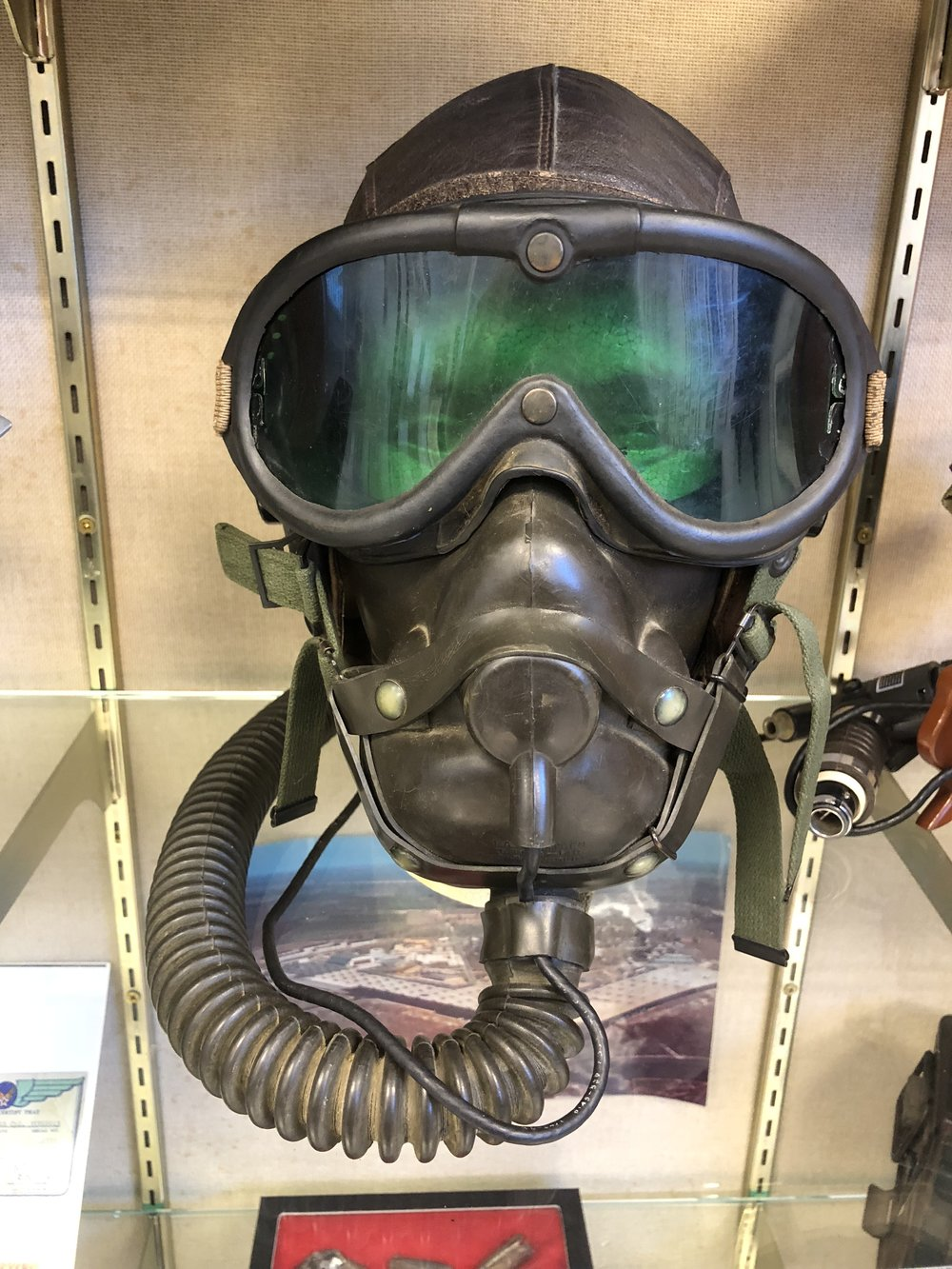 Helmet and Oxygen Mask WW II