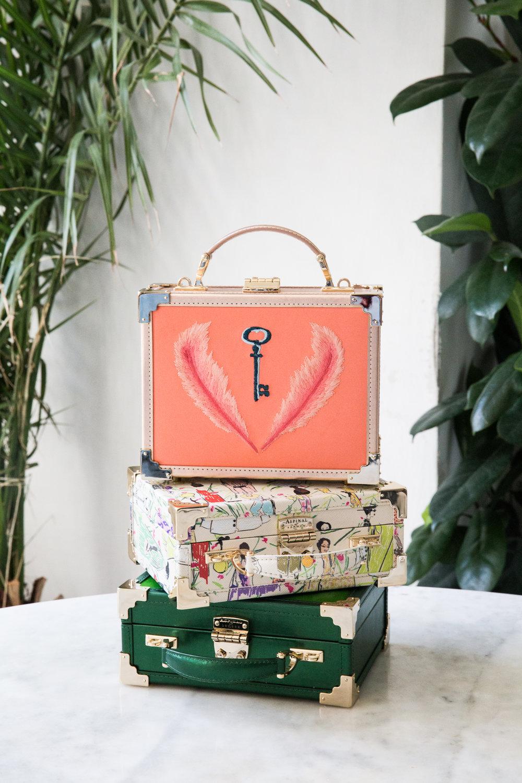 Luxury handbags social photoshoot Aspinal of London