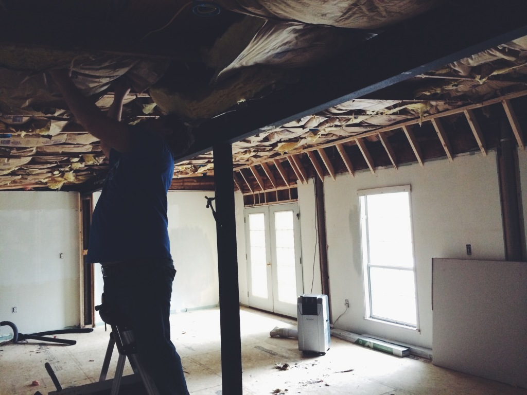 Framing the ceiling