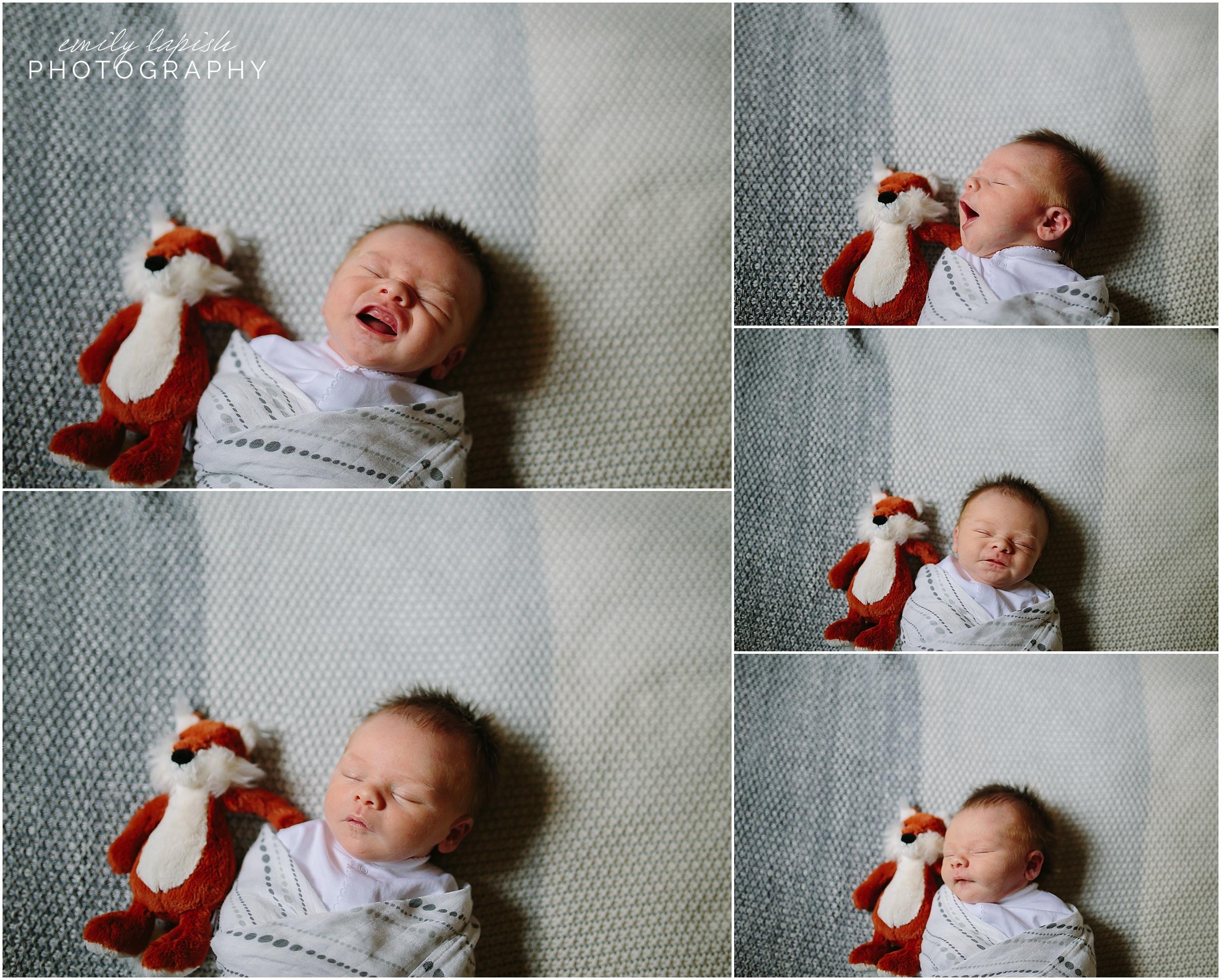 In home documentary newborn session by Emily Lapish Photography in Atlanta, GA