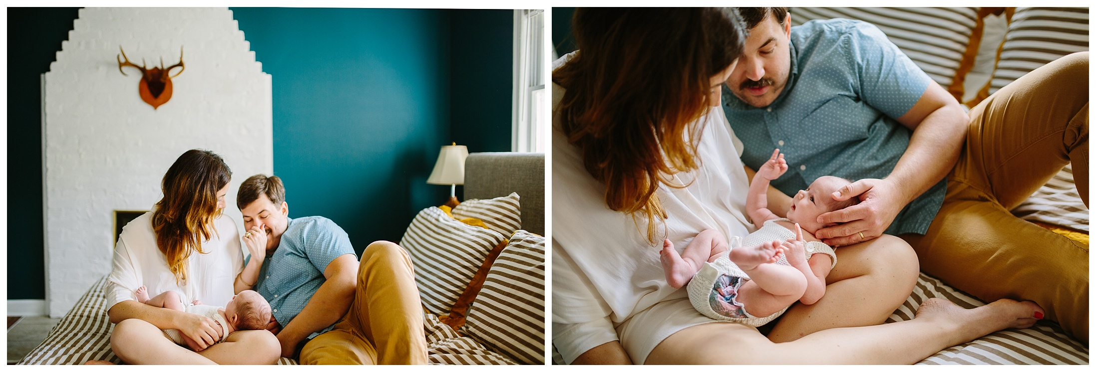family documentary photography newborn session in home chattanooga tn