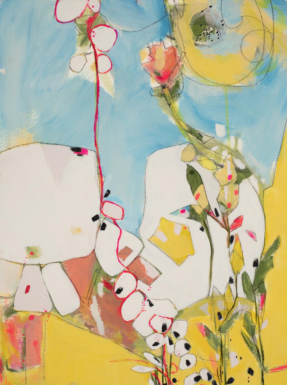 "Bonjour, 29"" x 22"", available - Miller Gallery Charleston"