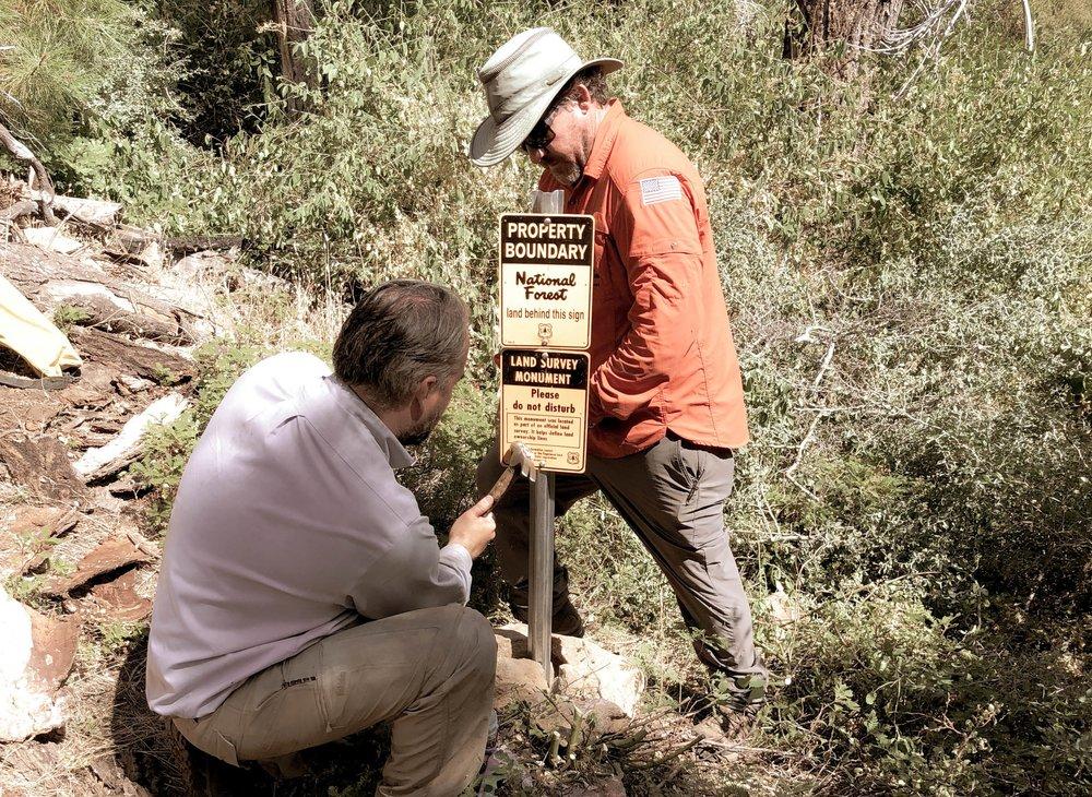 USDA Forest Service2018 - 2019 - 9 Miles of Boundary Re-Establishment.