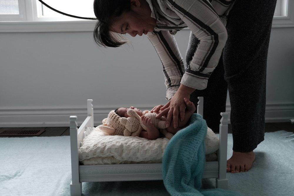 Behind the Scenes - Newborn Session