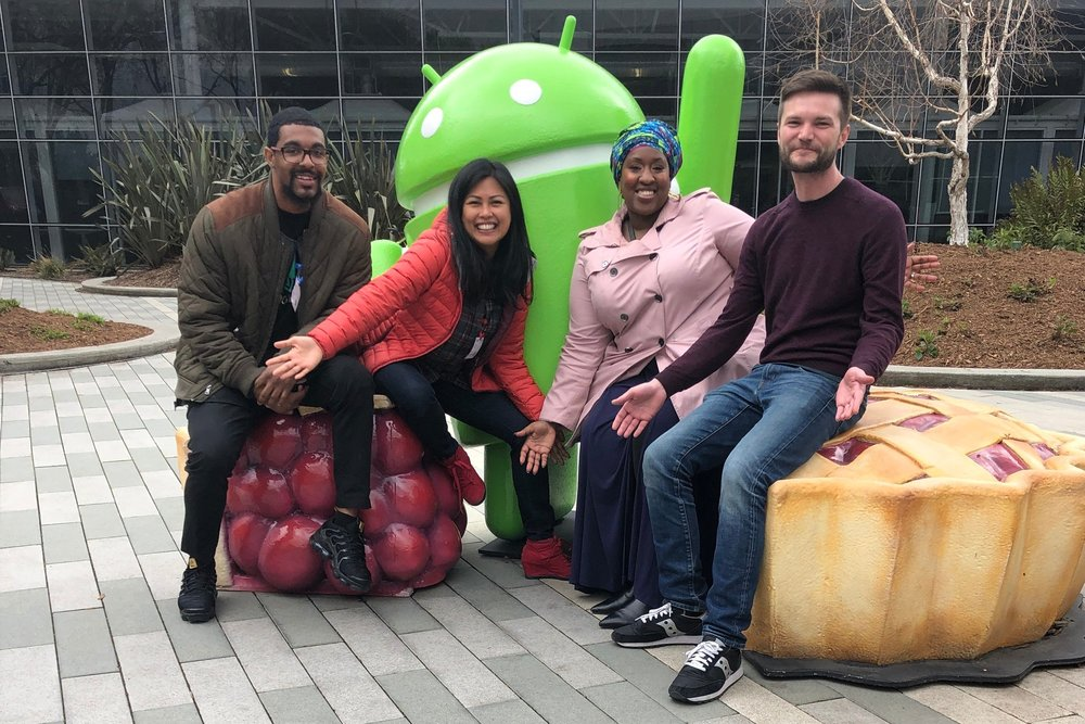 From left to right: ECM Ornell Caesar; CEO Arabella DeLucco; Mentor Michee Smith, Product Manager at Google; Board Member Timothy Woo