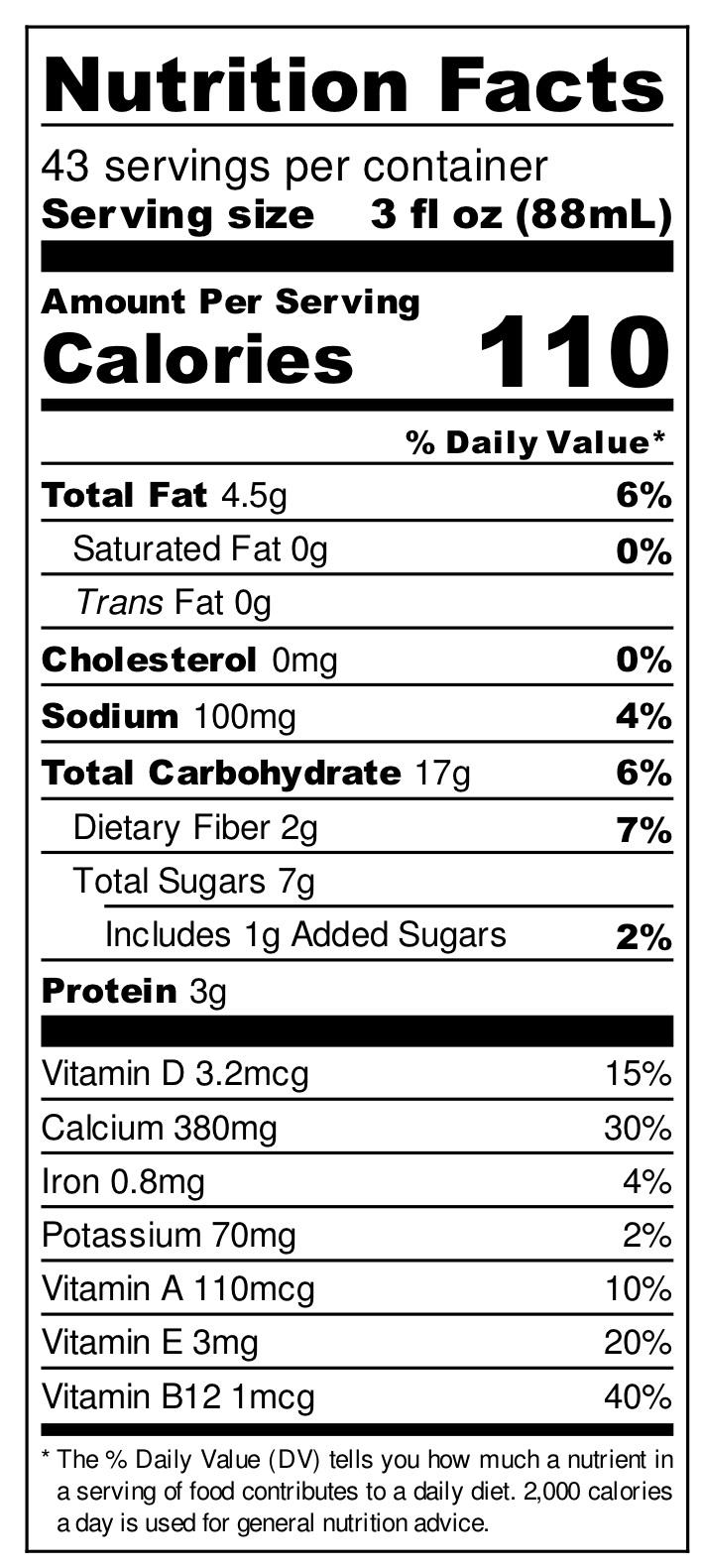 Oat Milk (click to enlarge)