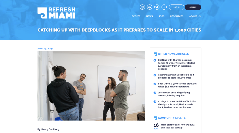 Refresh Miami: Catching up with Deepblocks as it prepares to