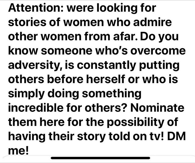 Calling all women!