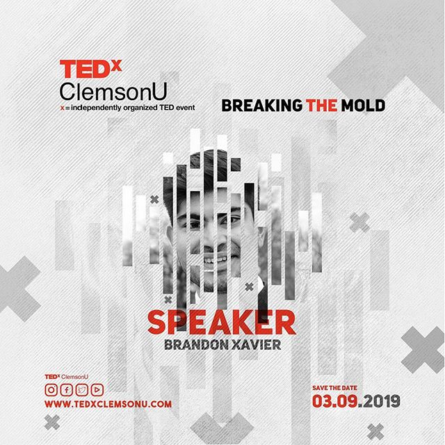 Meet our TEDxClemsonU Speaker!  Brandon is a senior Microbiology major from Spartanburg, SC. He enjoys learning about health and wellness and hopes to pursue a career in sports medicine. His TEDx talk will be centered around what he found to be some of the most applicable information learned throughout his undergraduate education. The focus of his talk is about the human gut microbiome and what is consumed, affects the size and diversity of bacteria in the gut.  #tedxclemsonu #breakingthemold #clemsonuniversity #clemson #tedx  Design Credit: @travelestan