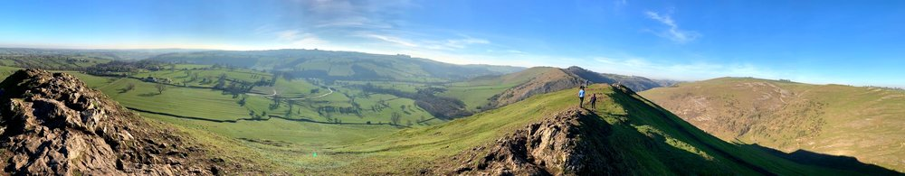 The view from the top of Thorpe Cloud at Dovedale.