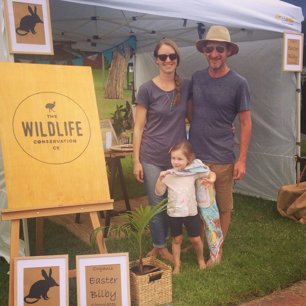 Kelsey and Brett Leis Wildlife Conservation Co and Organic Easter Bilbies