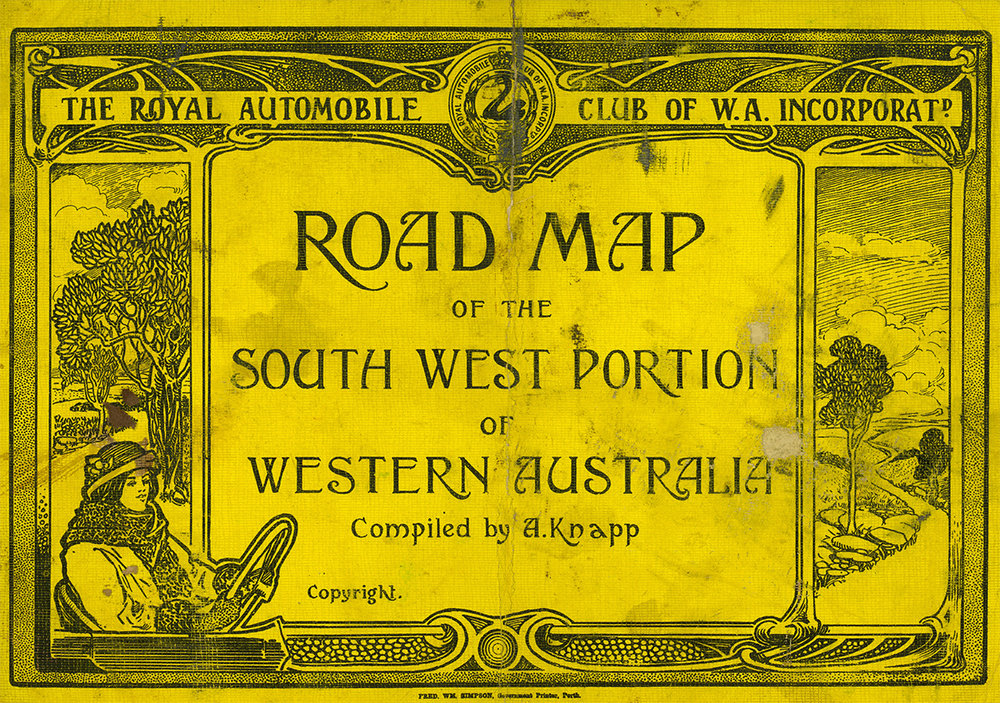 Road Map of the South West Portion of Western Australia, compiled by August Knapp, 1923.
