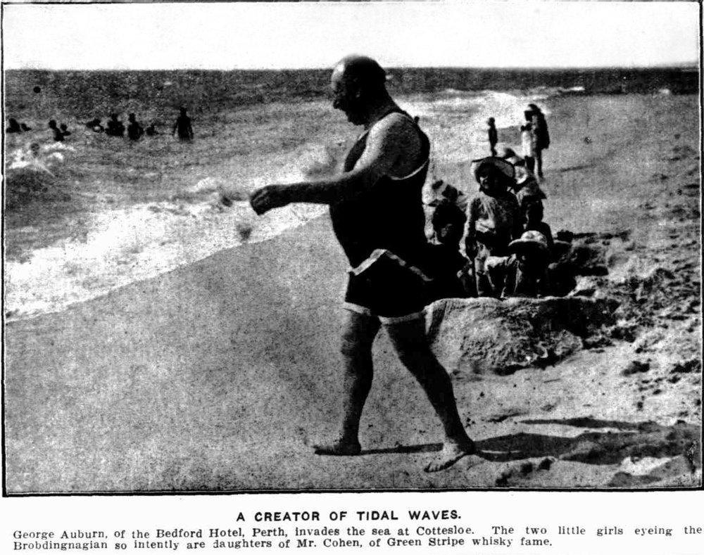 George Auburn, 'Creator of Tidal Waves', Truth, 23 January 1915.