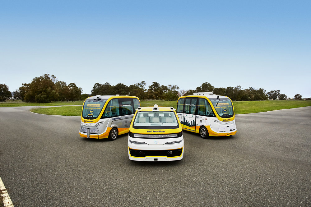 RAC's autonomous vehicles are currently being trialed on WA roads, courtesy RAC.