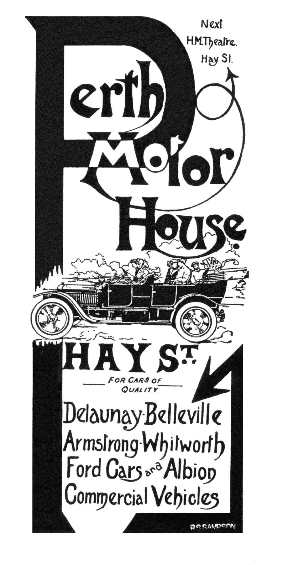 Advertisement for Winterbottom's Perth Motor House, courtesy A John Parker.