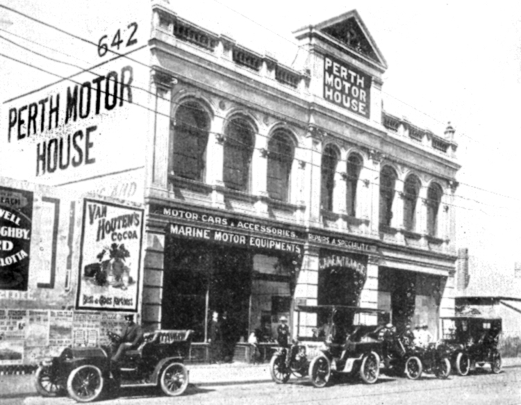 Perth Motor House c1907, courtesy A John Parker.