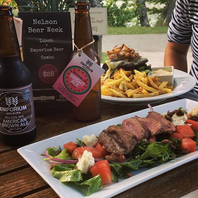 Fancy a delicious lunch paired with one of @emporium_brewing's tasty brews? Well then @riverkitchennelson is the place to be..! 🍻🍴 And all for $28! Disclaimer: the Watermelon Bright Ale stole the show 👌🏼