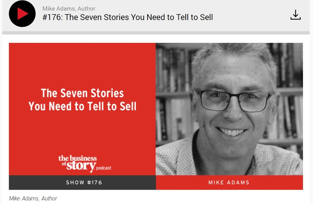 "Many sales and business professionals ask themselves questions every day.  ""How do I earn the trust of my audience?""  ""How can I become an effective salesperson?""  The answer? Ask your audience and customers questions. And after hearing their questions, offer a solution through your own story. Because you can earn trust through storytelling.  When is a particular story applicable for a specific type of audience?  Mike Adams joins me on this week's episode to share the different stories we need to tell in order to effectively sell. Mike is an engineer-turned-salesman who also authored the best selling book,  Seven Stories Every Salesperson Must Tell . He is currently managing a team of salespeople from different parts of the world for corporations like Schlumberger, Siemens, Nokia, and Halliburton.  In the show, we'll go through a little discovery process together to find each story. Some of the stories may come as a surprise to you, but they are all interconnected to one another. As a matter of fact, we've already been practicing them. All we need is to identify the story that works for us and how to tell it.  And if you're not a salesperson, don't worry. Any profession needs to sell their services in some way. Mike believes that our backgrounds are not a hindrance or a limitation. After all, whether you're an engineer, a doctor, a pilot – you can also be a salesperson. Just like our guest today, Mike Adams.  Tune in to find out how to use storytelling for sales by mastering seven different stories for your business.  In This Episode, You Will Learn  The stories you should tell versus the stories you should ask  The 7 different stories we should tell, their characters and their heroes  How prediction attempts to explain the neuroscience and psychology of storytelling   Key Quotes   ""There is a high degree of luck that comes with being successful.""  — Mike Adams   ""It doesn't matter what you're selling. The thing we have in common and whoever is buying is a human being.""  — Park Howell   ""It's easy to teach people who knew and think they need to learn.""  — Mike Adams   ""When we acknowledge good fortune in our stories, they come alive.""  — Mike Adams   ""In order to recognize an opportunity, one must be observant. You must be equipped with the skills, knowledge and values needed to be ready when that opportunity comes.""  — Park Howell   Mentioned In This Episode   Seven Stories Every Salesperson Must Tell    mysevenstories.com    The Social Media Conference  in New Zealand, March 1st and 2nd, 2019   How I Built This with Guy Raz  on NPR   Robin Warren and Barry Marshall    Mike Adams Twitter    Mike Adams LinkedIn"