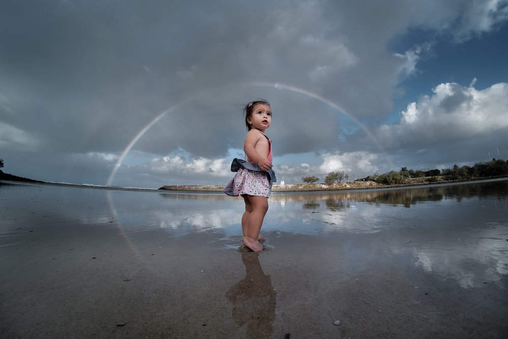 family photography at Tallebudgera Creek, Palm Beach