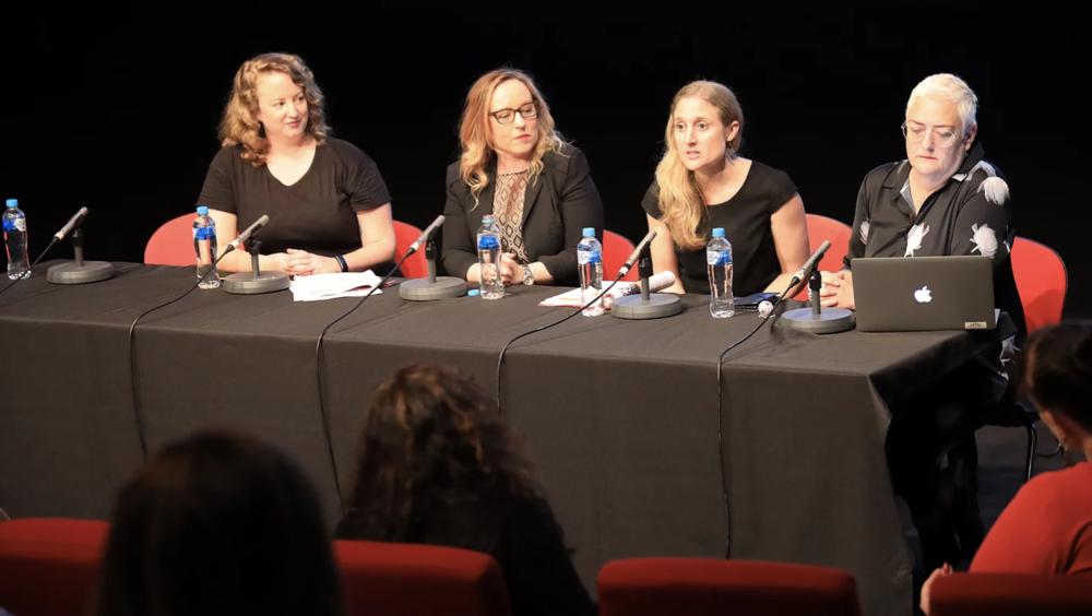 L-R:MargaretMargaret McHugh, Dr Sheree Gregory, Megan Riakos &Prof. Deb Verhoeven
